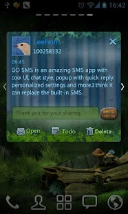 GO SMS Pro ForestSong SuperThe - screenshot thumbnail