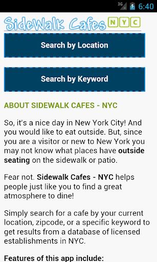 Sidewalk Cafes NYC