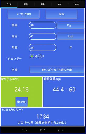 体重とBMIレコーダー