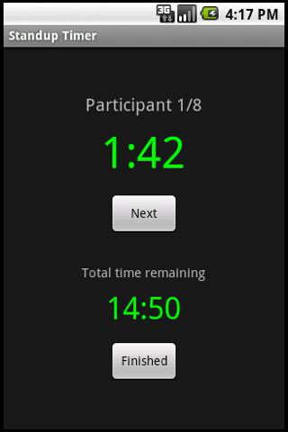 Standup Timer- screenshot