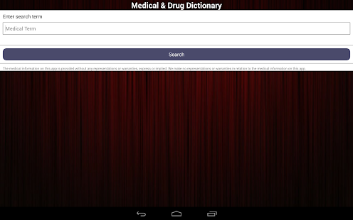 Medical & Drug Dictionary - screenshot thumbnail