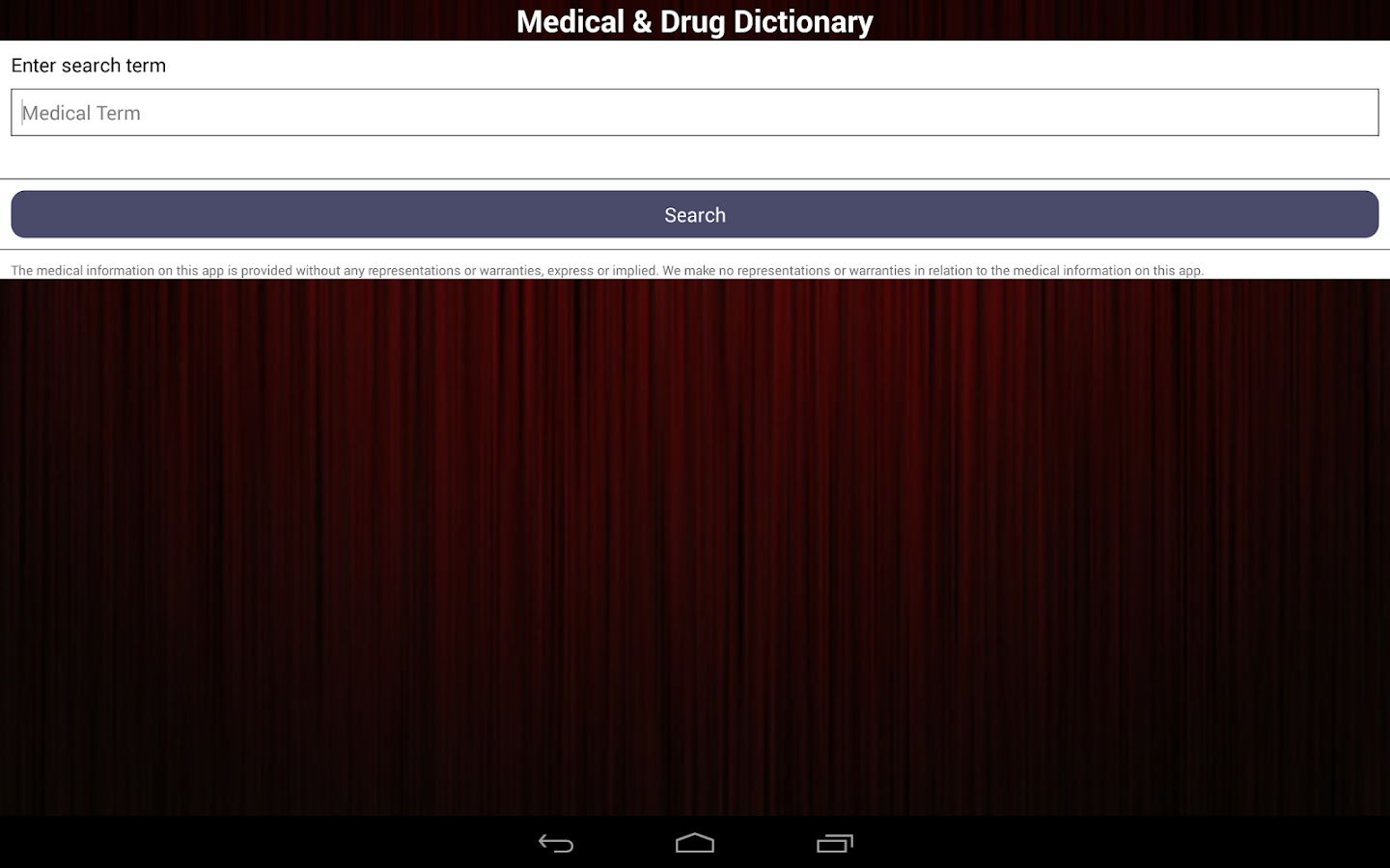 Medical & Drug Dictionary - screenshot