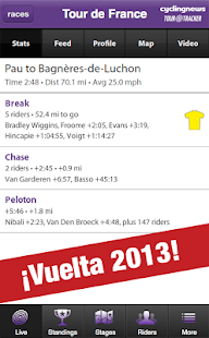 CyclingNews Tour Tracker - screenshot thumbnail