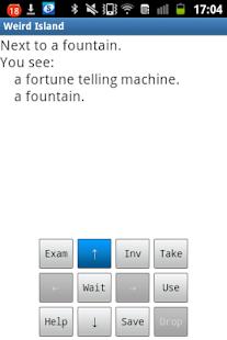 Weird Island text adventure screenshot