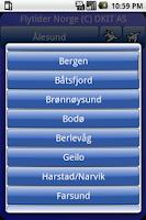 Screenshot of Flytider Norge