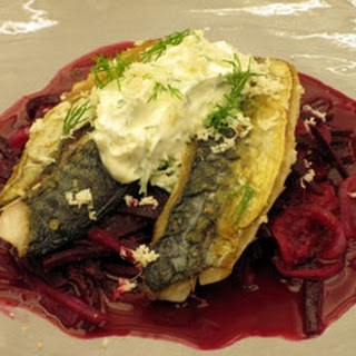 Mackerel With Borscht Salad.