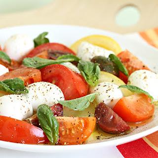 Heirloom Tomato Salad With Bocconcini And Basil.