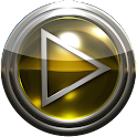 Poweramp skin yellow glass icon