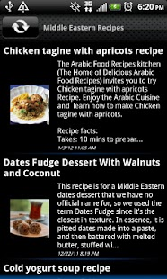 Middle Eastern Recipes - screenshot thumbnail