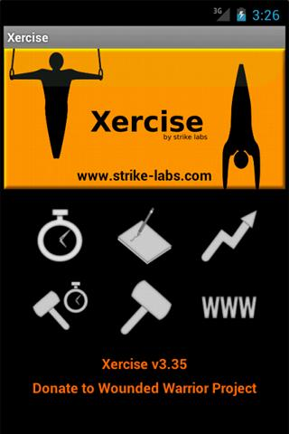 Xercise- screenshot