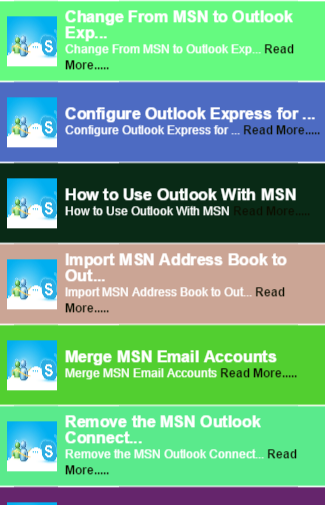 How to MSN Email