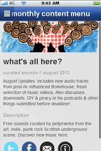 petpiranha's music app- screenshot thumbnail