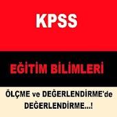 KPSS EĞİTİM BİLM.DEĞERLENDİRME