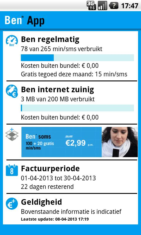 Ben App - screenshot