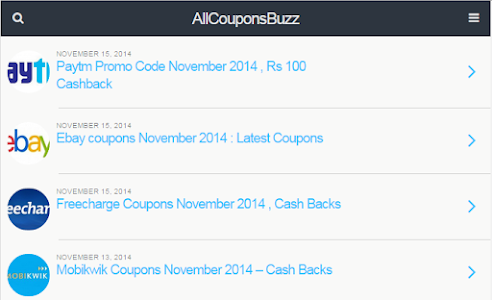 All Coupons Buzz screenshot 1