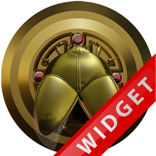 Poweramp Widget Gold Scarab