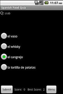 Spanish Food Language Guide - screenshot thumbnail