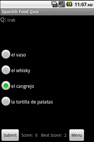 Spanish Food Language Guide - screenshot