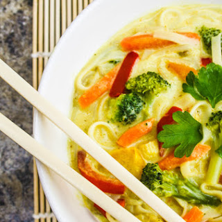 Yellow Thai Curry Noodle Soup.