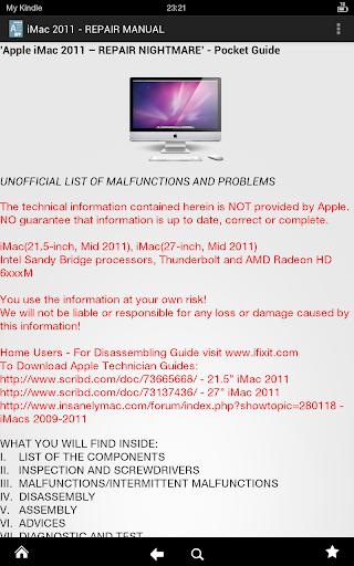 iMac 2011 - REPAIR MANUAL