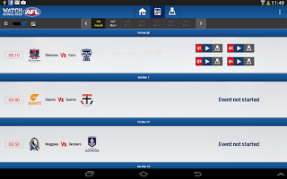 Screenshot of Watch AFL Global Pass