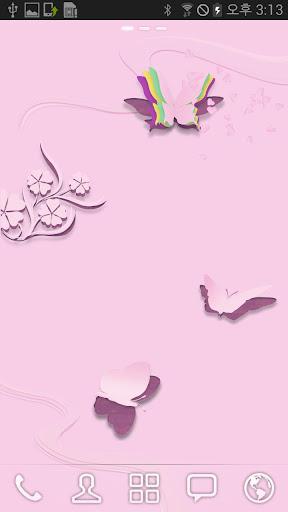 玩工具App|粉紅色的蝴蝶動態壁紙免費|APP試玩