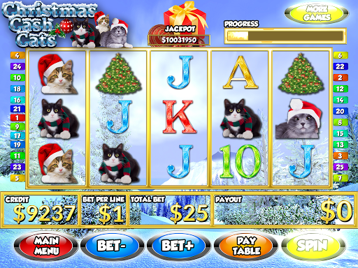 Christmas Cash Cats FREE Slots
