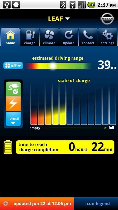 Nissan LEAF - screenshot
