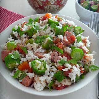 Creole Tomatoes Okra and Rice