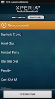 Screenshot of Xperia™ Football Downloads