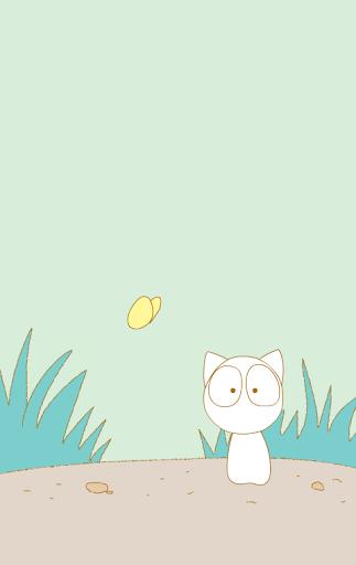 [Shake]Cat butterfly wallpaper