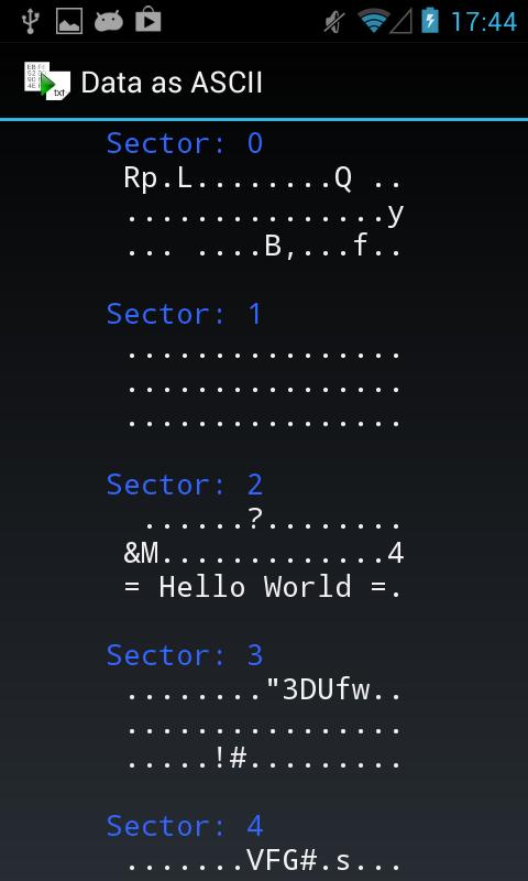 Mifare Classic Tool - MCT - screenshot