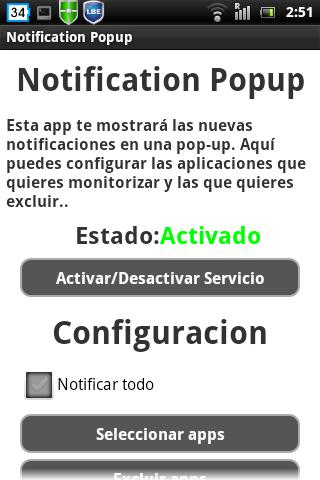 Notification Popup Alert Pro - screenshot