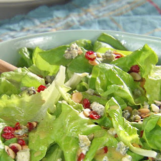 Cranberry-Almond Green Salad with Honey Mustard Vinaigrette.