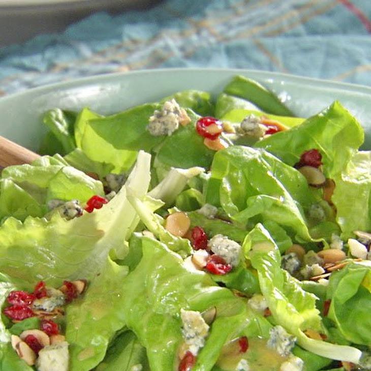 Cranberry-Almond Green Salad with Honey Mustard Vinaigrette Recipe
