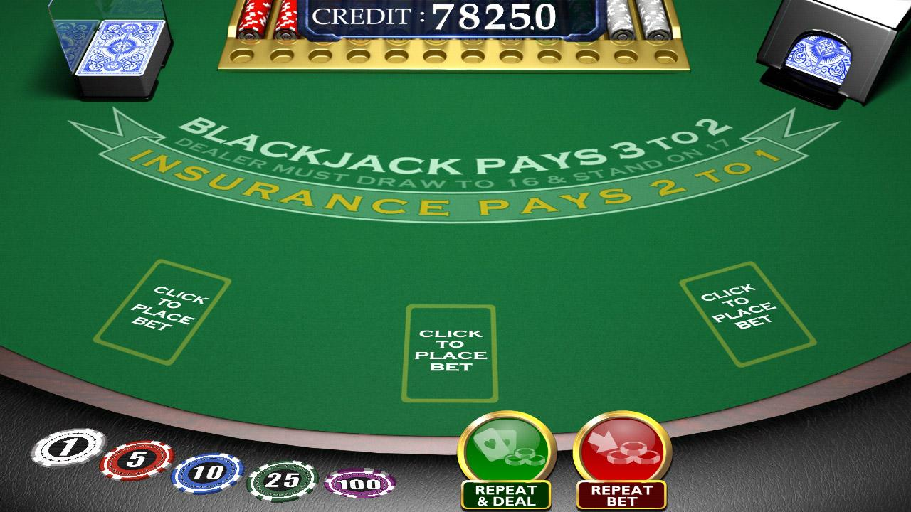 Blackjack table top view - Blackjack 3d
