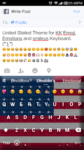 United States Emoji Keyboard
