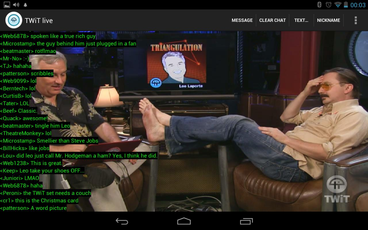 Nexus TWiT.tv Live - screenshot