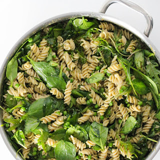 Gluten Free Kale And Spinach Pesto Pasta