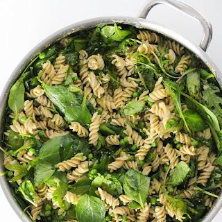 Gluten Free Kale And Spinach Pesto Pasta.
