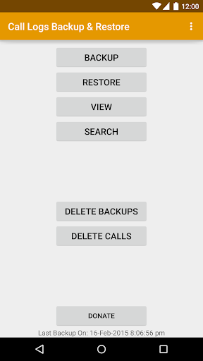 Call Logs Backup Restore