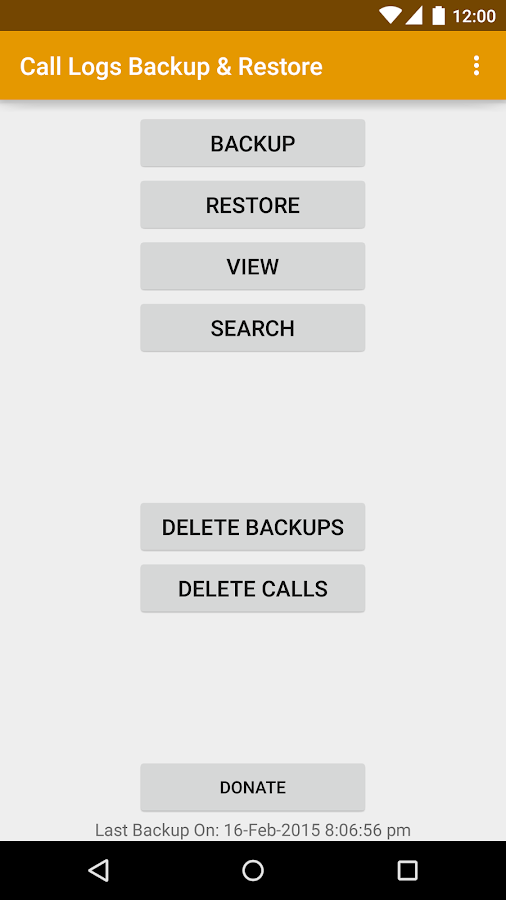Call Logs Backup & Restore- screenshot