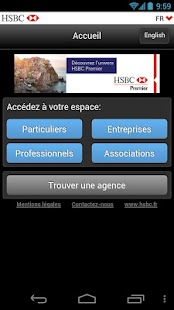 HSBC Entreprises- screenshot thumbnail