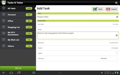 TNT Lite To-Do List (Non Eng)- screenshot thumbnail