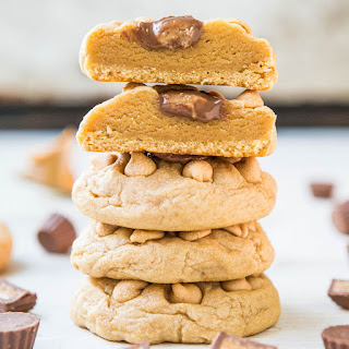 Soft and Chewy Triple Peanut Butter Cookies.