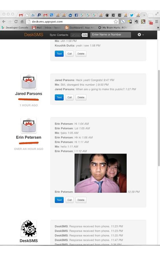 DeskSMS - screenshot
