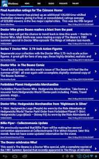Doctor Who WhoNews Lite- screenshot thumbnail