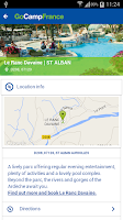 Screenshot of Camping France App