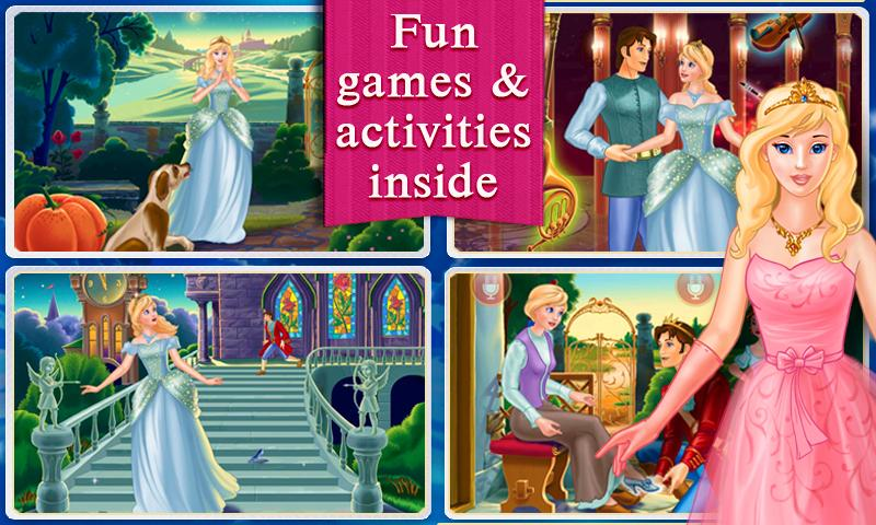 Cinderella Dress Up & Story- screenshot