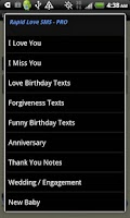 Screenshot of Rapid Love SMS - PRO
